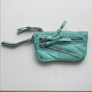 Free people leather zip wristlet!